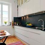 Узкая длинная кухня – дизайн, фото