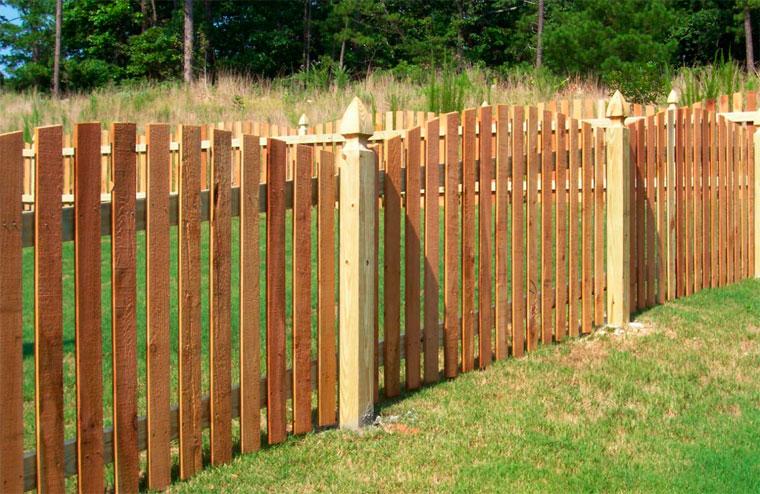 Сделать забор на даче недорого