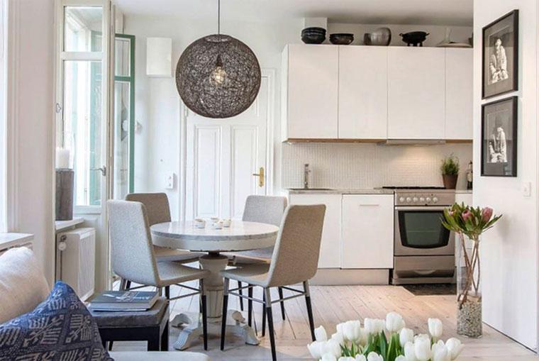 Скандинавский стиль в интерьере квартиры-студии – фото
