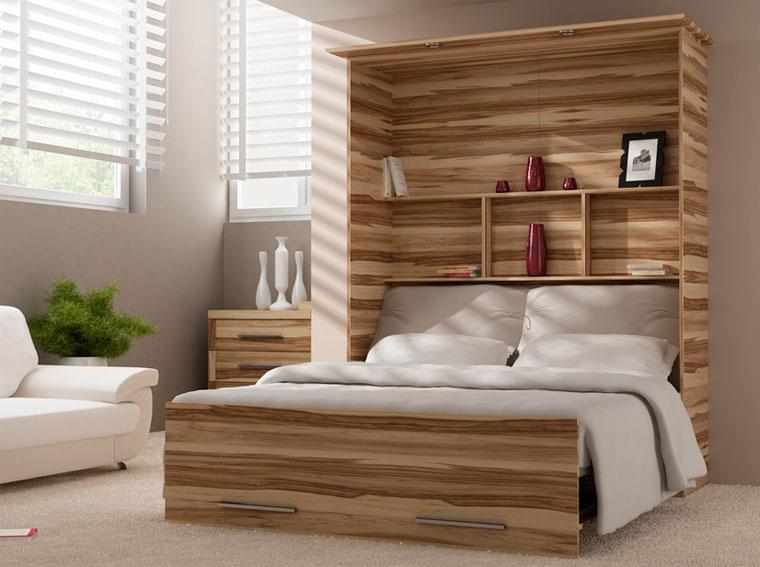 Кровать, встроенная в стену