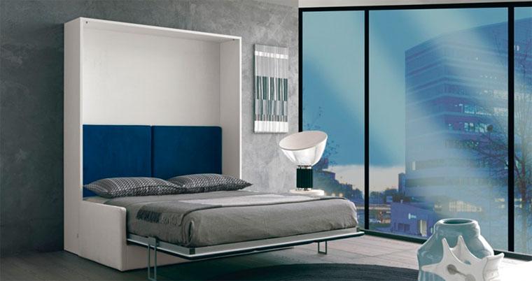 Встроенная кровать стену