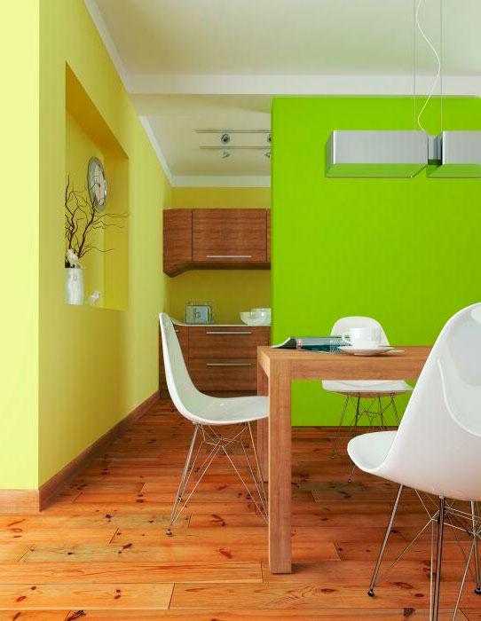Зеленые стены в интерьере, их сочетание, 30 фото
