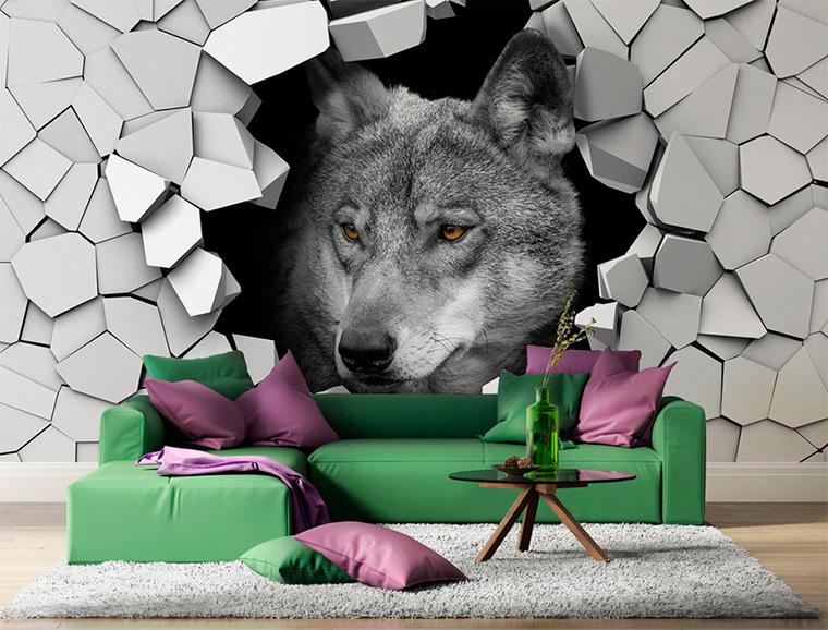 Волк на фотообои