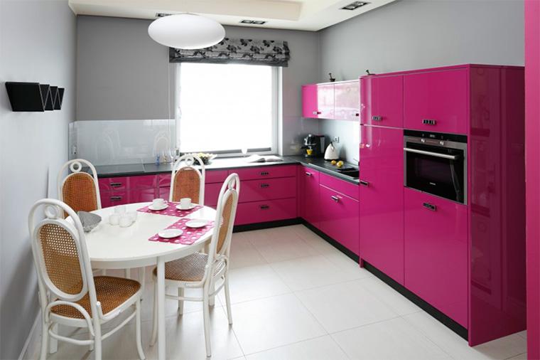 заказы кухонный гарнитур розовый фото массива дерева