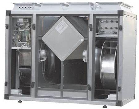 Так выглядит агрегат с рекуператором перекрестного типа