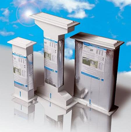 Фото. Диффузоры для монтажа в наружной стене здания