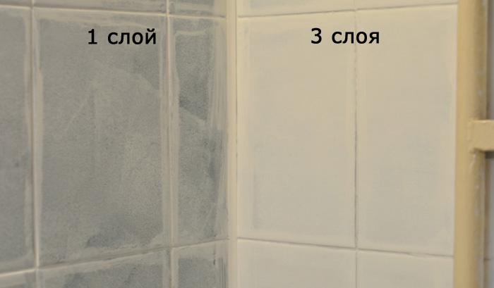 Чем красить плитку в ванной